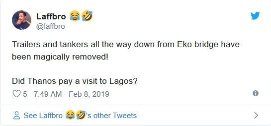 tk10 - Nigerians React As Trucks And Containers Disappear Overnight From Lagos Bridges Ahead Of Buhari's Visit