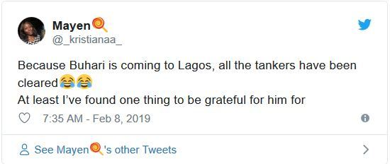 tk12 - Nigerians React As Trucks And Containers Disappear Overnight From Lagos Bridges Ahead Of Buhari's Visit