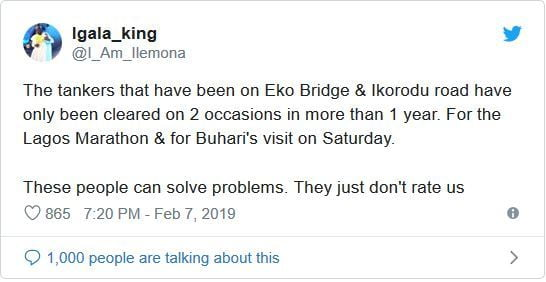 tk5 - Nigerians React As Trucks And Containers Disappear Overnight From Lagos Bridges Ahead Of Buhari's Visit