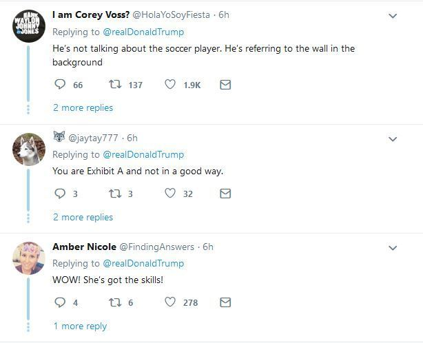tr10 - Twitter Reacts As Donald Trump Retweets Video Of African Lady Skillfully Juggling Football
