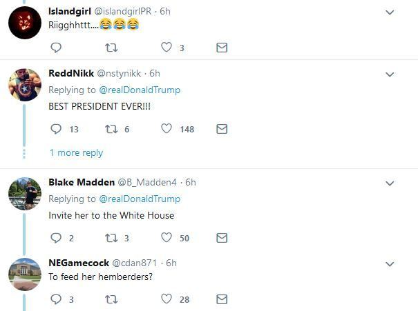 tr14 - Twitter Reacts As Donald Trump Retweets Video Of African Lady Skillfully Juggling Football