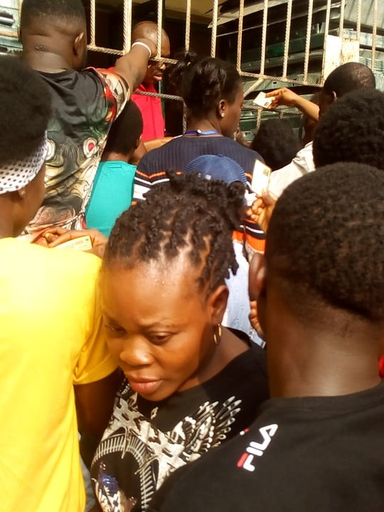 warri pvc 2 - See The Crowd That Trooped Out To Collect PVCs In Warri (Photos)