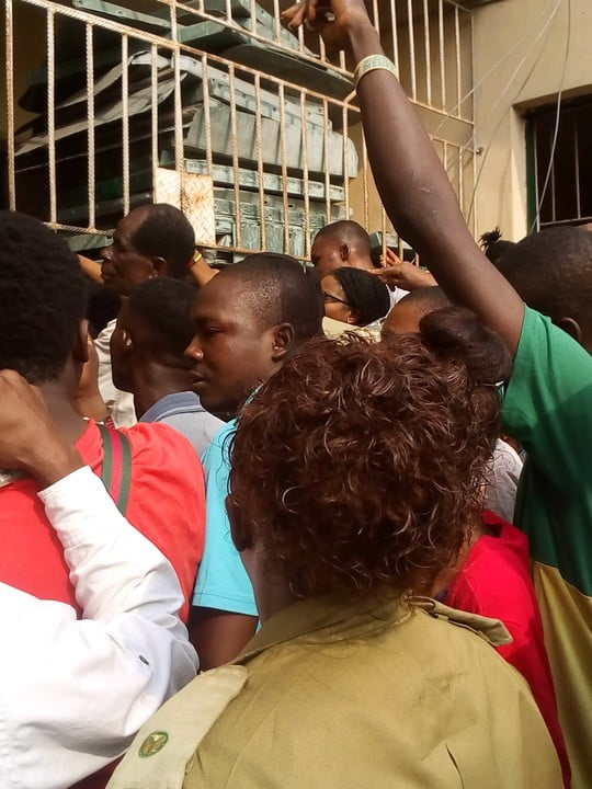 warri pvc 4 - See The Crowd That Trooped Out To Collect PVCs In Warri (Photos)