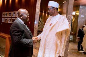 Buhari and Nana Akufo Addo 1 300x200 - Finally, Ghanaian Govt Gives Reason For Locking Nigerian Traders' Shops