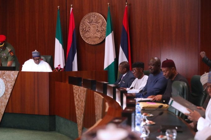 D2qtcKWWwAo2n7S - President Buhari Presides Over FEC Meeting (Pictures)