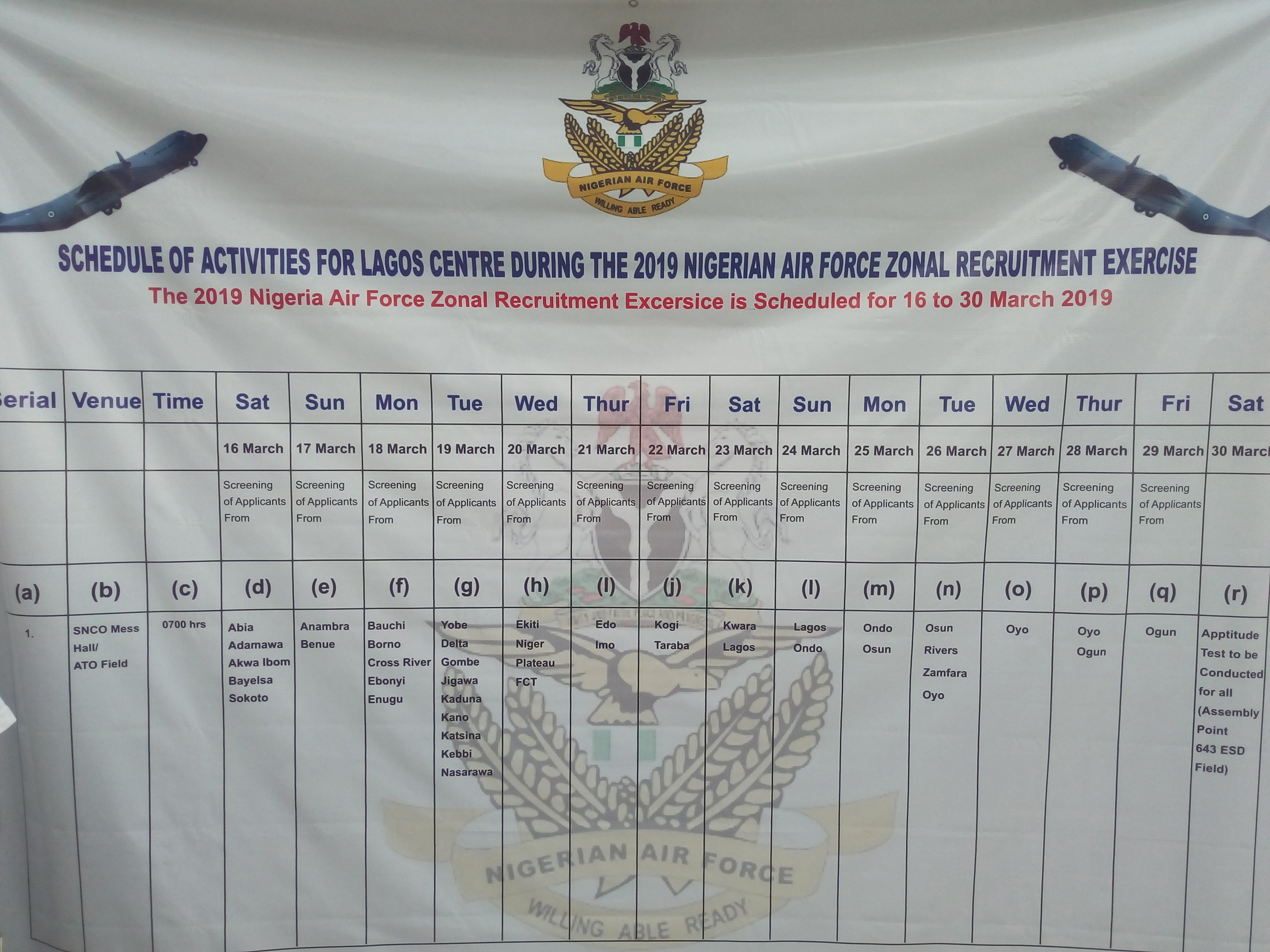 IMG 20190316 092715 - NAF Reschedules 2019 Screening Exercise