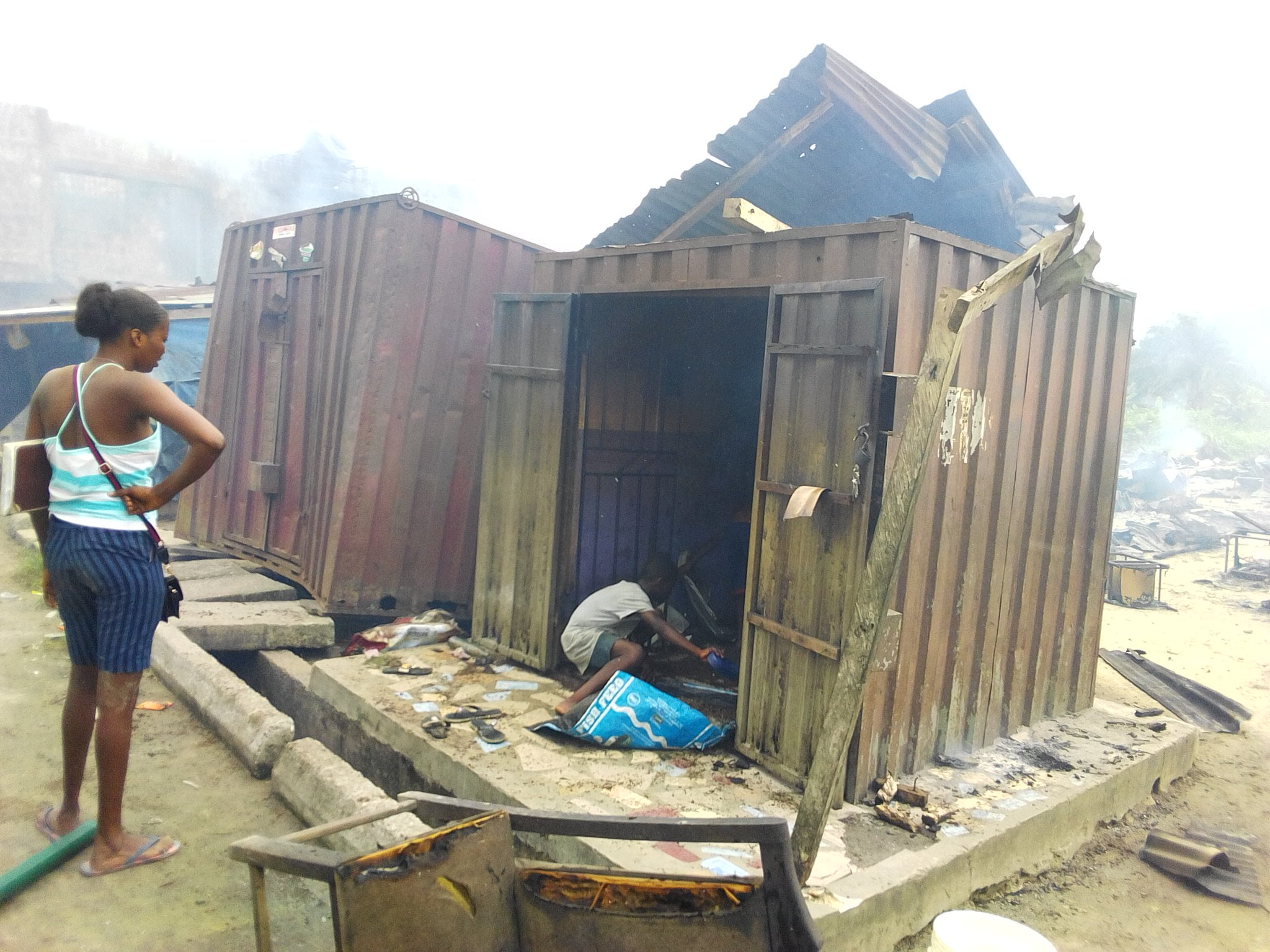 IMG 20190317 161638 - Fire Outbreak Renders Over 20 Families Homeless In Delta State (Photos)