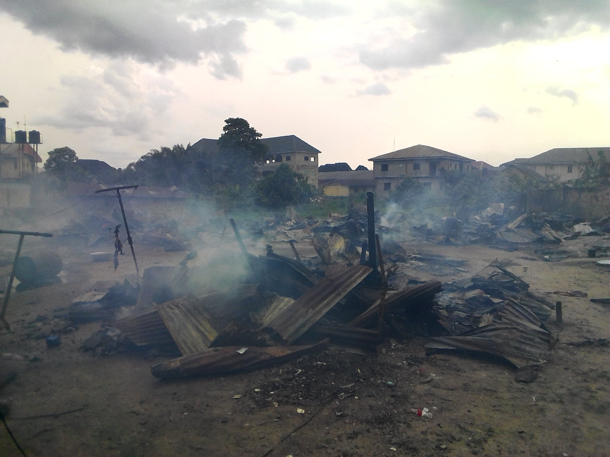 IMG 20190317 161758 - Fire Outbreak Renders Over 20 Families Homeless In Delta State (Photos)