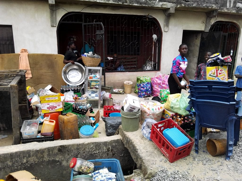 IMG 20190317 161928 1024x768 - Fire Outbreak Renders Over 20 Families Homeless In Delta State (Photos)