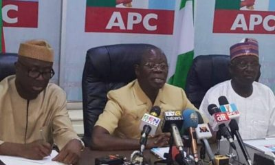 APC Chairman Oshiomhole Explodes As Supreme Court Sacks Bayelsa Governor-Elect, David Lyon