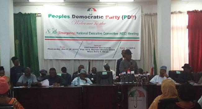 Details Of PDP NEC Meeting Emerge