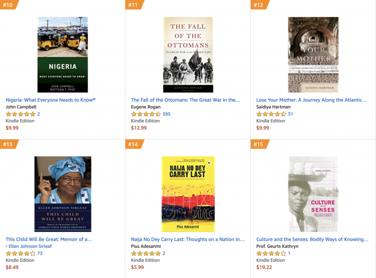 Screenshot 2019 03 29 at 07.53.47 768x569 - Pius Adesanmi's Books Receive Massive Sales Boost On Amazon After His Death