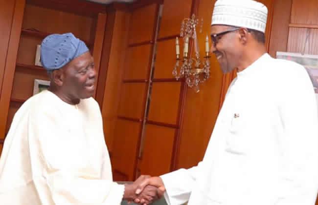 Tinubu Buhari Bisi Akande3 - President Buhari Meets With Tinubu, Akande (Photos)