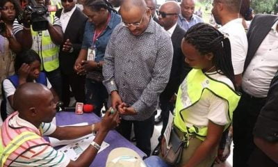 Akwa Ibom Decides: Governor Udom, Wife Cast Their Votes (Photos)