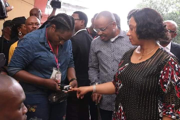 Governor Udom, Wife Cast Their Votes In Akwa Ibom (Photos)