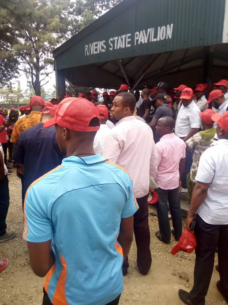 Wike Must Go 3 768x1024 - 'Wike Must Go' Protest Rocks Port Harcourt Ahead Governorship Election