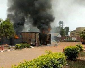 Arsonists burn down INEC office in Enugu
