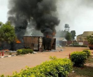benue inec - See How Gunmen Set Election Materials On Fire In Guma, Gov. Ortom's Village
