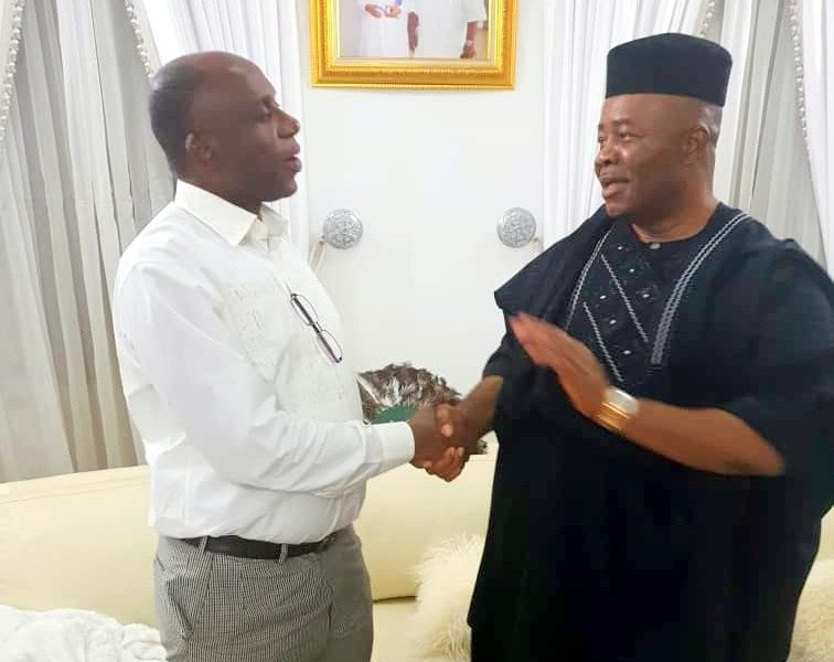Akpabio and Amaechi 756x600 - Finally, Akpabio, Amaechi Meet, Agree To Work Together For APC