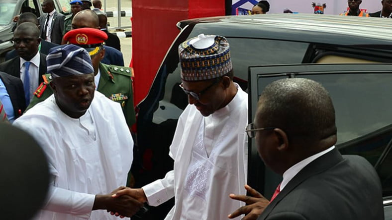 BUHARI 44 - Just In: President Buhari Arrives Lagos (Photos)