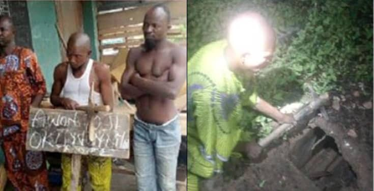 Bricklayer Arrested - Herbalist, 2 Others Arrested For Stealing Human Parts From Cemetery