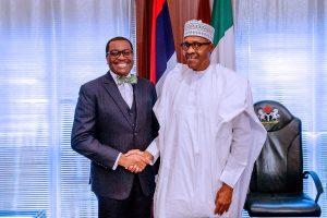 Buhair and AfDB President 300x200 - AfDB: Obasanjo Hails Buhari Over Position On Adesina