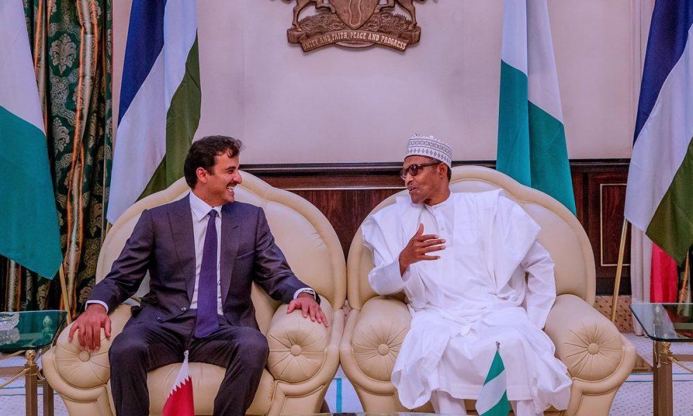 Buhari and Emir of Qatar 1000x600 - What Buhari Discussed With Emir of Qatar