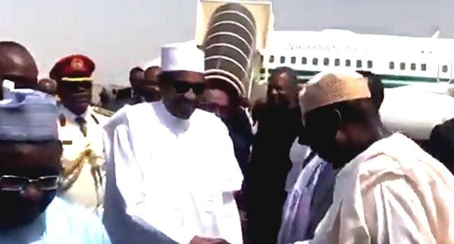 Kết quả hình ảnh cho President Buhari called for illegal flow curbing