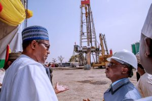 Buhari in Gombe Oil rig 300x200 - Transcorp Pays Efora Energy $5.5m to Settle Oil Licence (OPL 281) Dispute