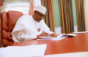 Buhari writes 300x194 - President Buhari Felicitate With Olu Bajowa At 80