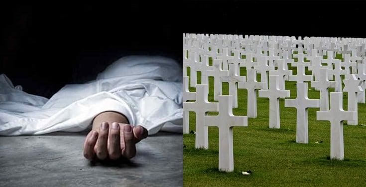 Burial - Woman Meets Dead Husband In Ghana, Slumps