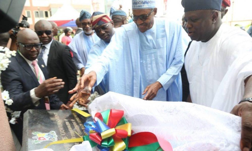 CA494C6D A018 44F3 892B 225425DE2D0E 1000x600 - Pictures: President Buhari Commissions 500 Seater Lagos Theatre