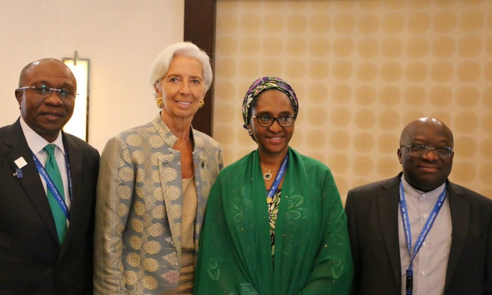 DpY3MdNU8AEpqws 1 1000x600 - Ahmed, Emefiele Attend IMF Meetings In Washington
