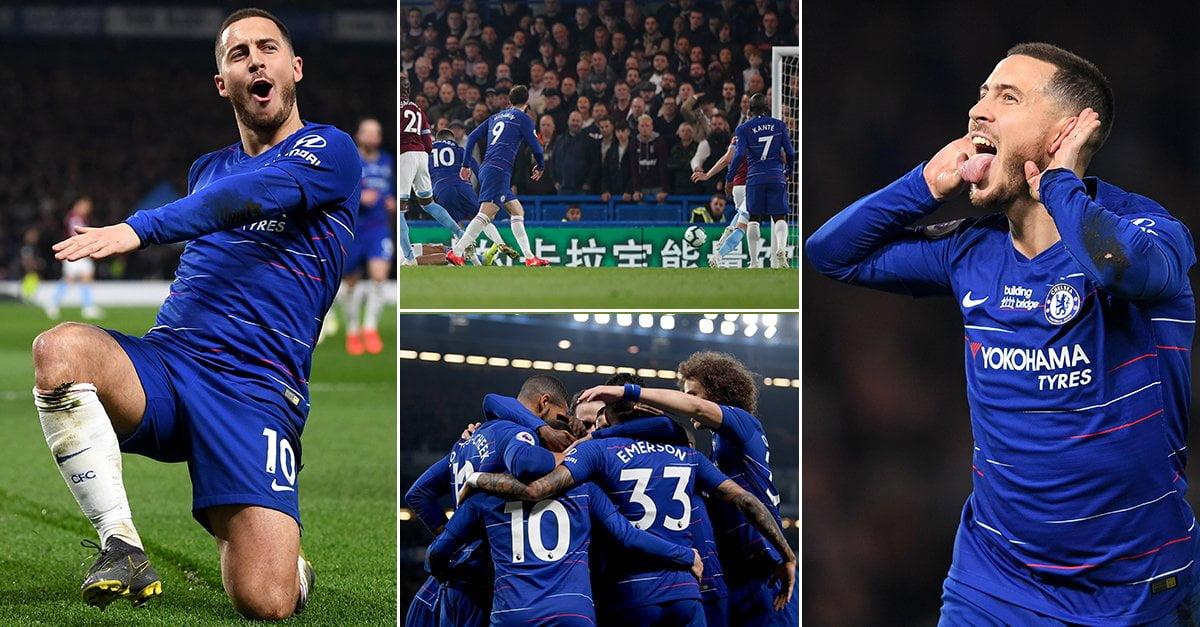 Hazard Speaks On Leaving Chelsea After West Ham Victory (Video)