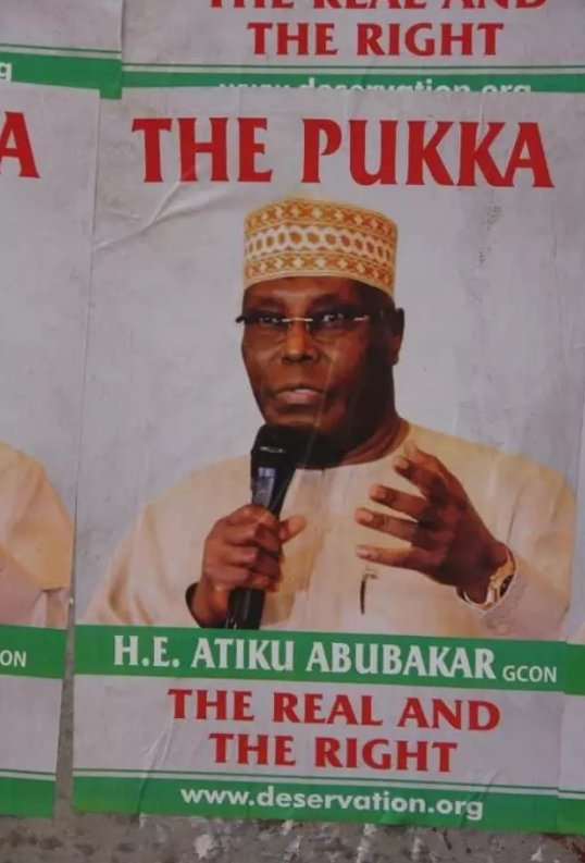IMG 20190410 085702 205 - Buhari vs Atiku: See Poster Pictures That Made The Presidency Tell Atiku He's Lucky Not To Be In Prison
