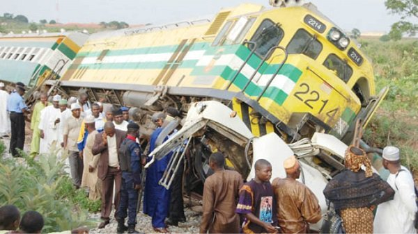 Lagos train accident - Four Persons Feared Dead As Train Crushes Tricycle In Lagos State