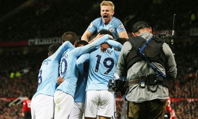 Manchester City players celebration