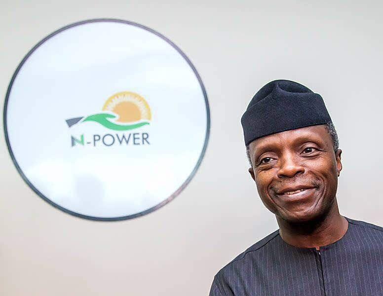 N Power Osinbajo 776x600 - N-Power: Buhari Govt Begins Payment Of March Stipend
