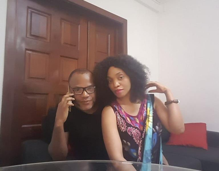 Nnamdi Kanu and his wife Uchechi 768x600 - Biafra: Nnamdi Kanu Speaks After Leaked 'Bed Moment' Video, Praises Wife