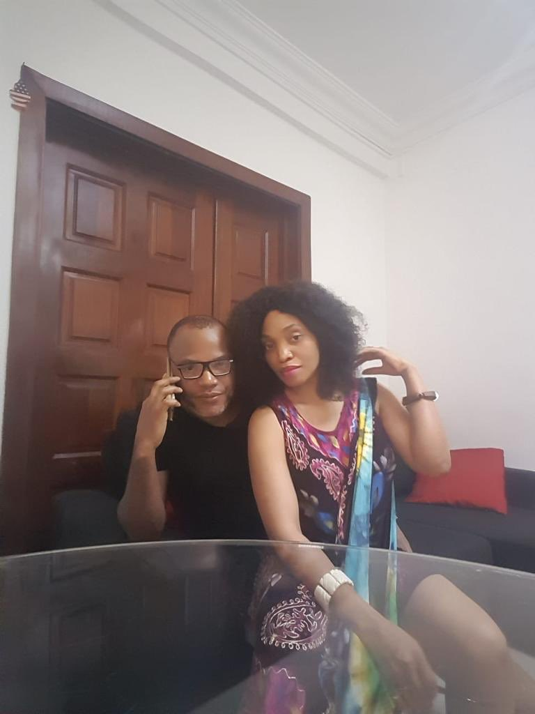 Biafra: Nnamdi Kanu Speaks After Leaked 'Bed Moment' Video, Praises Wife