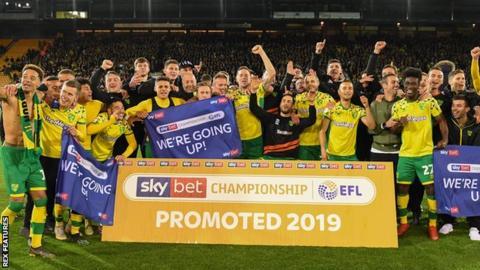 Norwich City - Norwich Gain Promotion To English Premier League