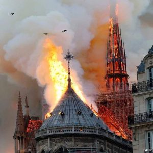 Notre Dame 1 300x300 - Fire Guts Notre Dame Cathedral, Paris Skyline Altered (Video/Photos)