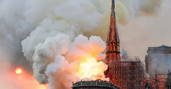 Notre Dame 3 - Fire Guts Notre Dame Cathedral, Paris Skyline Altered (Video/Photos)