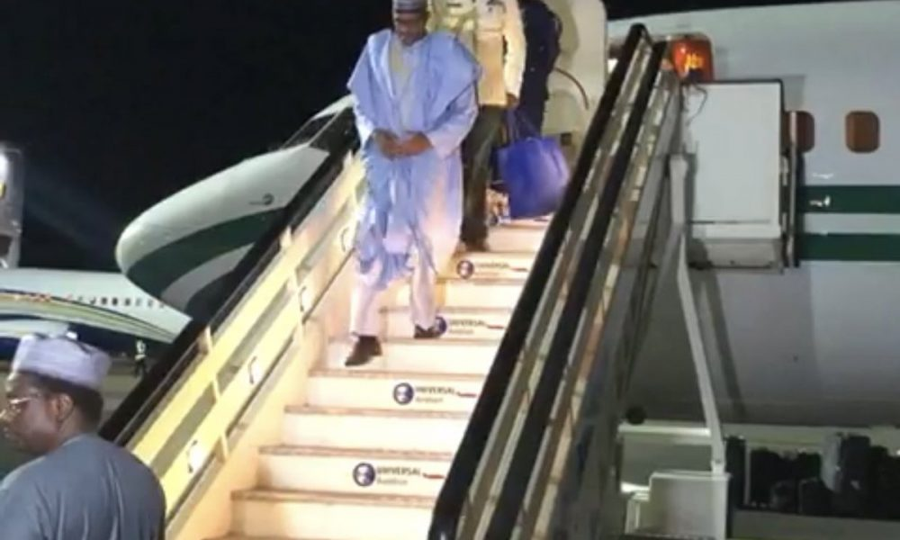 PMB in London 1 1000x600 - Buhari Arrives London For A 'Private Visit' (Photos)