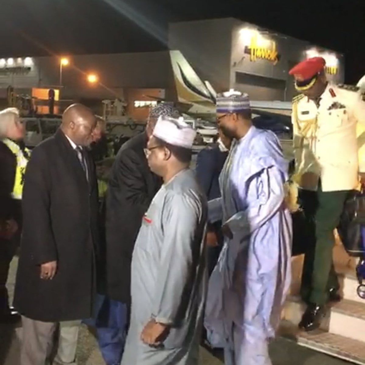 Buhari Arrives London For A 'Private Visit' (Photos)
