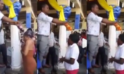 Pastor Anoints Church Members With Soft Drinks (Video)