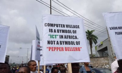 Protesters, traders, Computer Village
