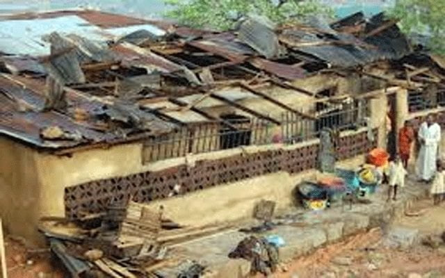 Rainstorm destroys 200 houses 640x400 - Rainstorm In Kwara State Destroys More Than 50 Houses