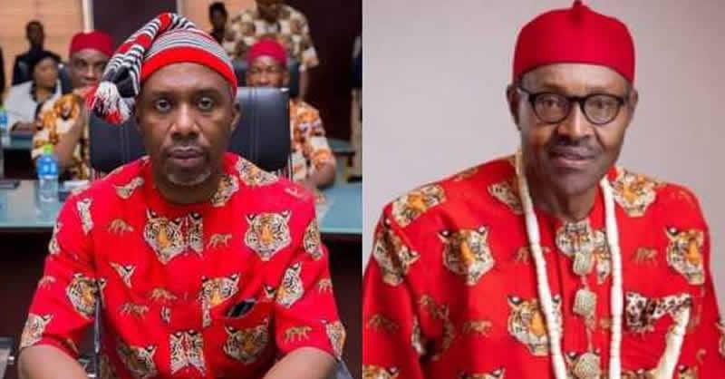 Uche Nwosu and Muhammadu Buhari - 9th National Assembly: Uche Nwosu Pledges Support To Buhari's Candidate