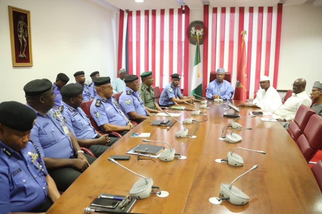WhatsApp Image 2019 04 03 at 15.35.29 - Just In: Senate President, Bukola Saraki Meets With IGP Mohammed Adamu
